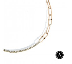 2.10ct tennis chain choker
